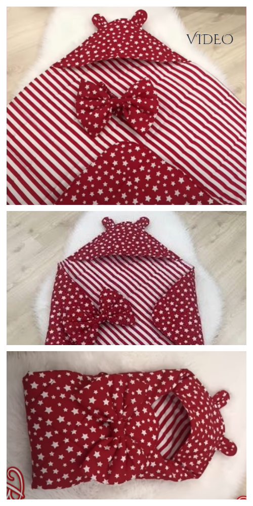 DIY Reversible Fabric Baby Sleeping Bag Blanket Free Sewing Pattern