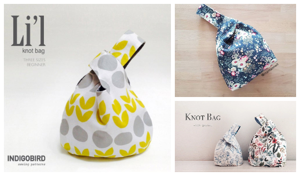 DIY Japanese Knot Bag Free Sewing Patterns + Video