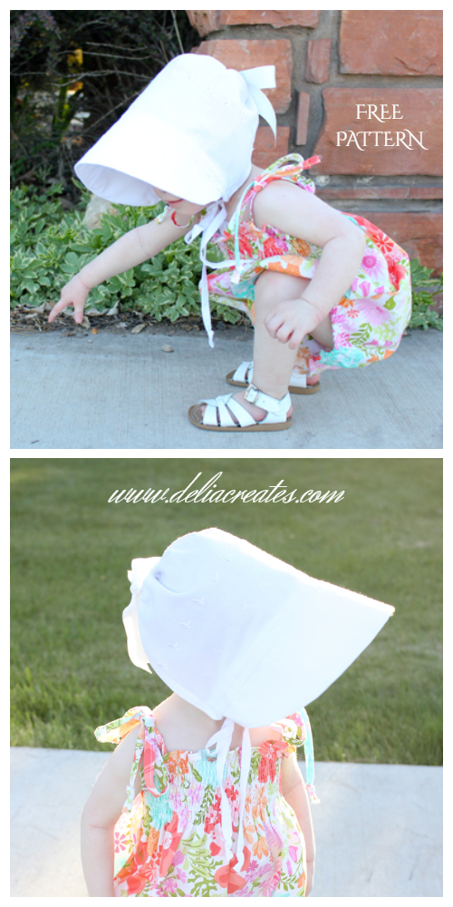 Baby Sun Bonnet Free Sewing Patterns