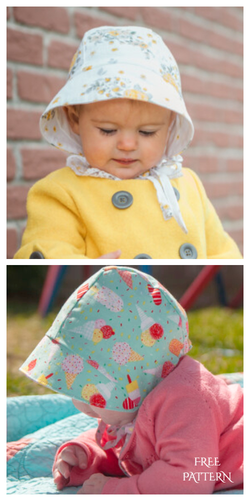 Baby Daisy's Sun Bonnet Free Sewing Patterns