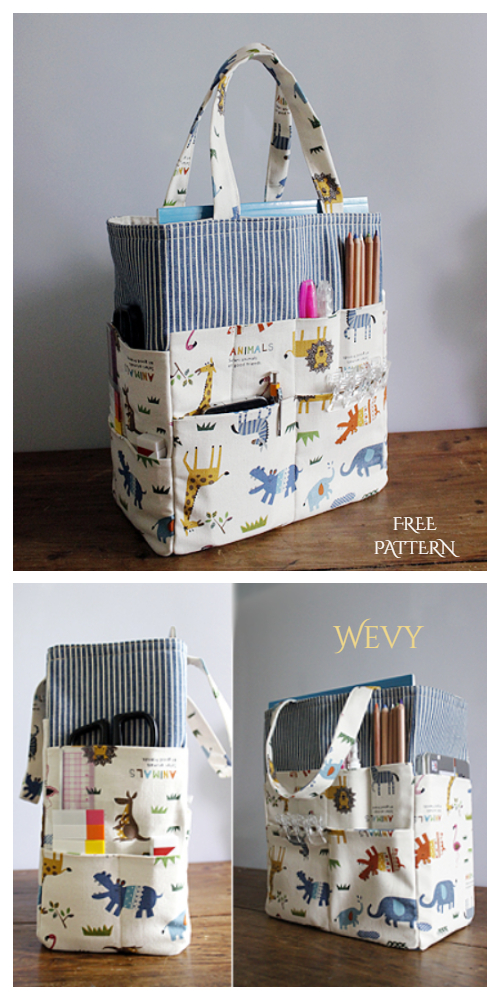 DIY Fabric Crafter Organizer Bag Free Sewing Patterns