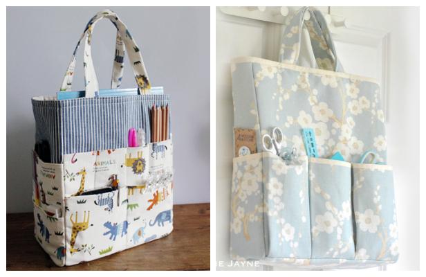 DIY Fabric Crafter Organizer Bag Free Sewing Patterns