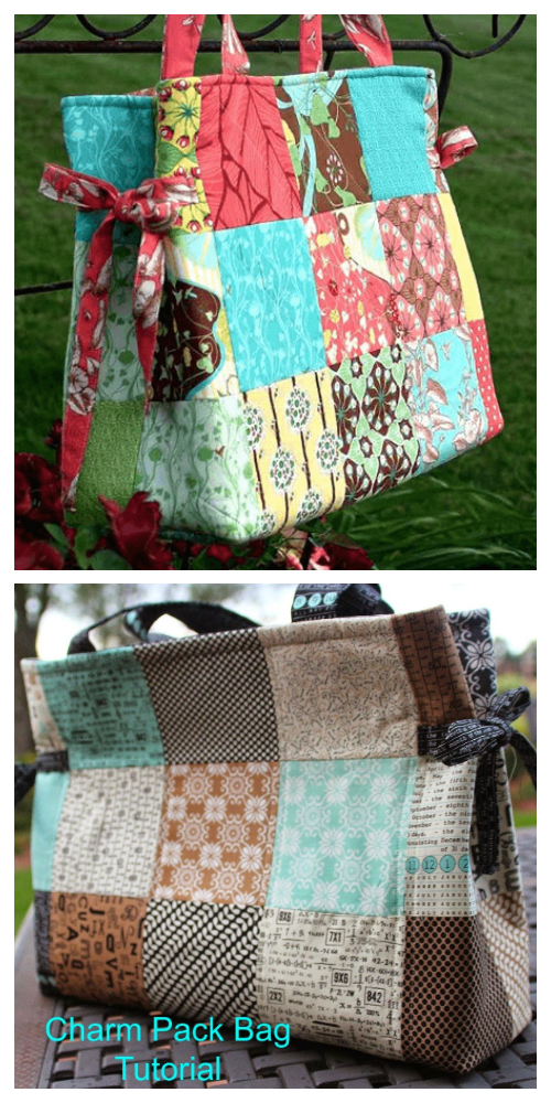 DIY Charm Pack Tote Bag Free Sewing Patterns