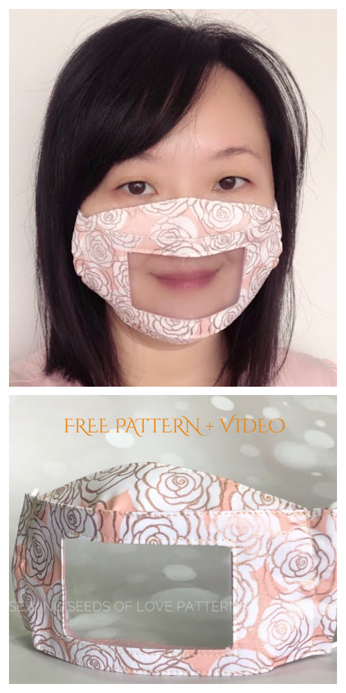 DIY Clear Window Face Mask Free Sewing Patterns + Video