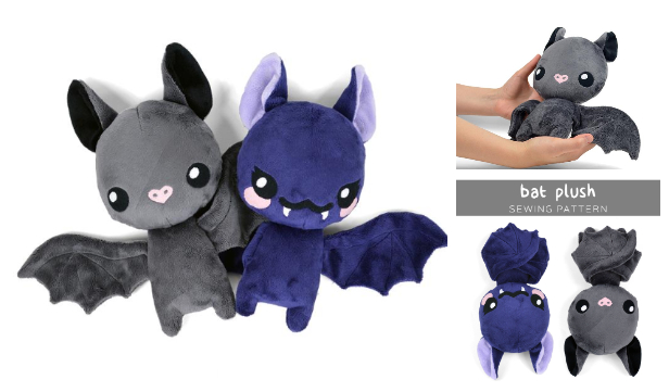 DIY Fabric Bat Plush Free Sewing Patterns