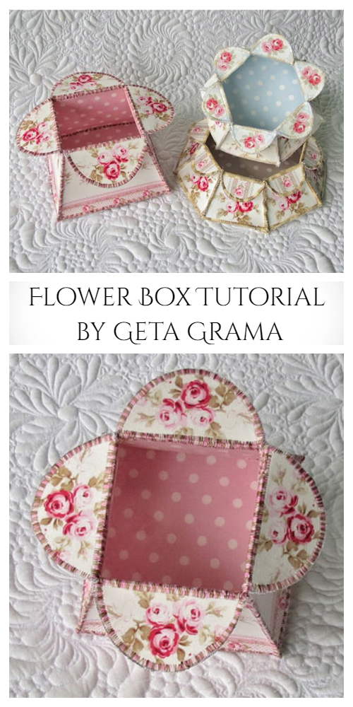 DIY Fabric Flower Box Free Sewing Patterns