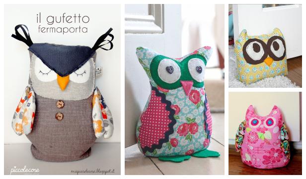 DIY Fabric Owl Door Stop Free Sewing Patterns