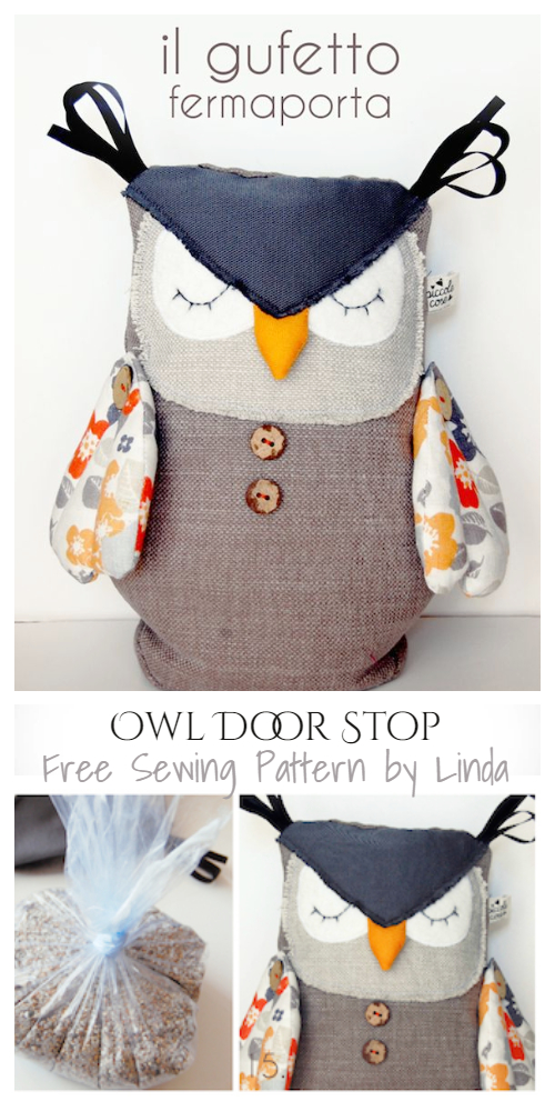DIY Fabric Owl Door Stop Free Sewing Patterns