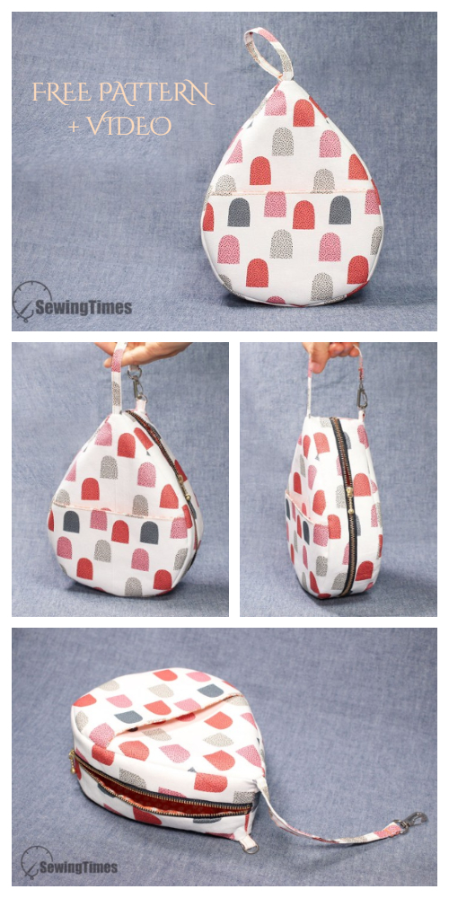 DIY Fabric Water Drop Bag Free Sewing Pattern + Video