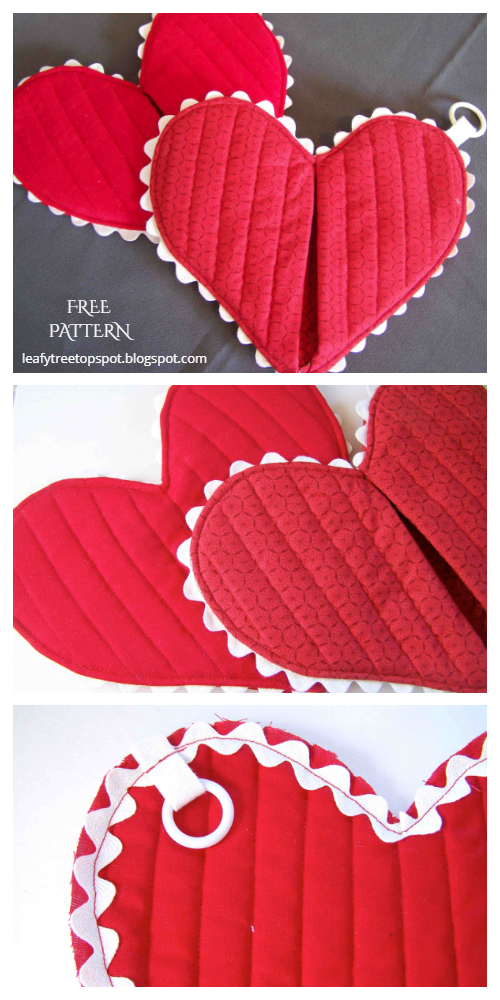 DIY Heart Potholder Free Sewing Patterns