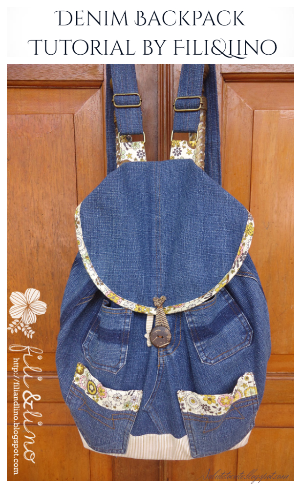 DIY Jean Backpack Free Sewing Patterns