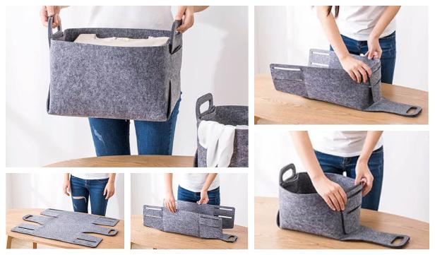 DIY No Sew Felt Storage Basket Free Patterns