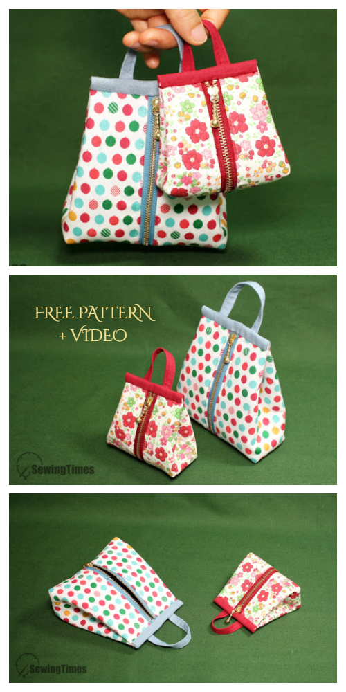DIY Easy Zipper Sack Bag Free Sewing Patterns + Video