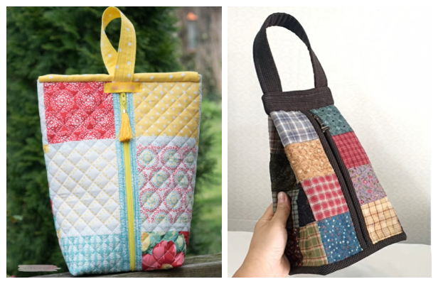 DIY Zipper Sack Bag Free Sewing Patterns + Video