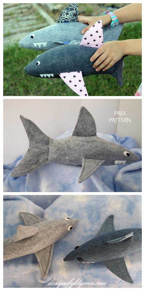 DIY Sock Toy Shark Free Sewing Patterns