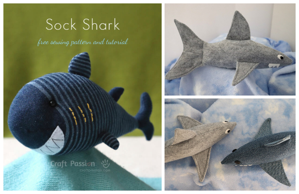 DIY Fabric Toy Shark Free Sewing Patterns