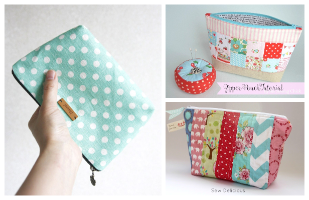 Easy Zipper Pouch Free Sewing Patterns