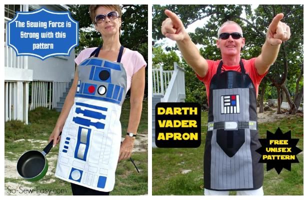 Star War Apron Free Sewing Patterns + Video