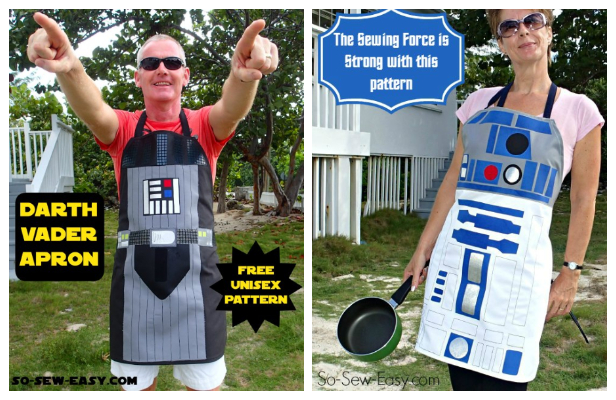 Star War Apron Free Sewing Patterns + Video