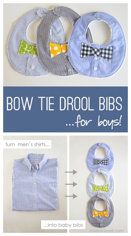 Baby Boy's Bow Tie Drool Bib Free Sewing Pattern