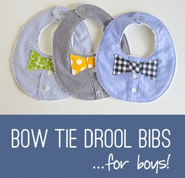 Baby Boy's Bow Tie Drool Bib Free Sewing Pattern