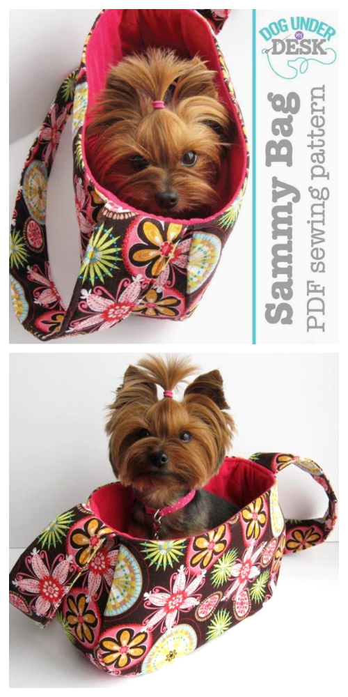 DIY Fabric Sammy Bag Dog Sling Carrier Sewing Patterns