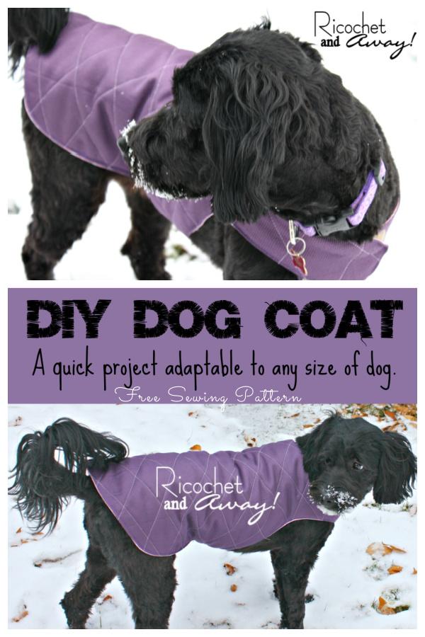 DIY Fabric Dog Coat Free Sewing Patterns