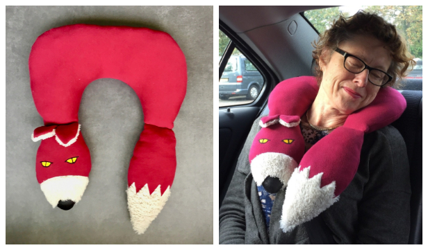DIY Fox Travel Neck Pillow Free Sewing Pattern