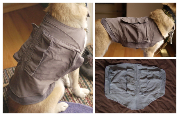 DIY Recycled Doggy Cooling Vest Free Sewing Pattern
