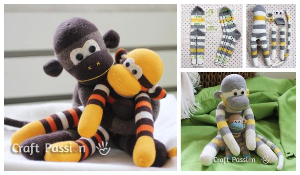 DIY Sock Monkey Free Sewing Pattern