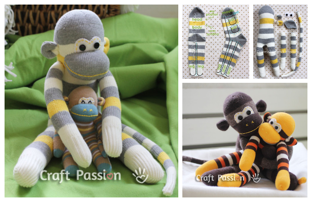DIY Sock Monkey Free Sewing Pattern