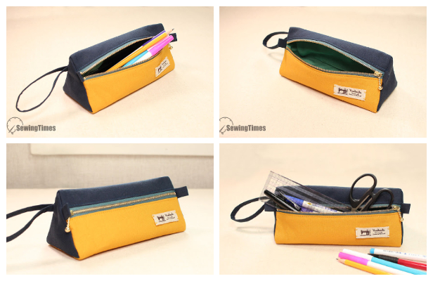 DIY Triangle Pencil Case Free Sewing Pattern + Video
