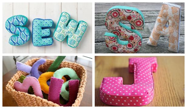 Easy Fabric Letters DIY Tutorial f