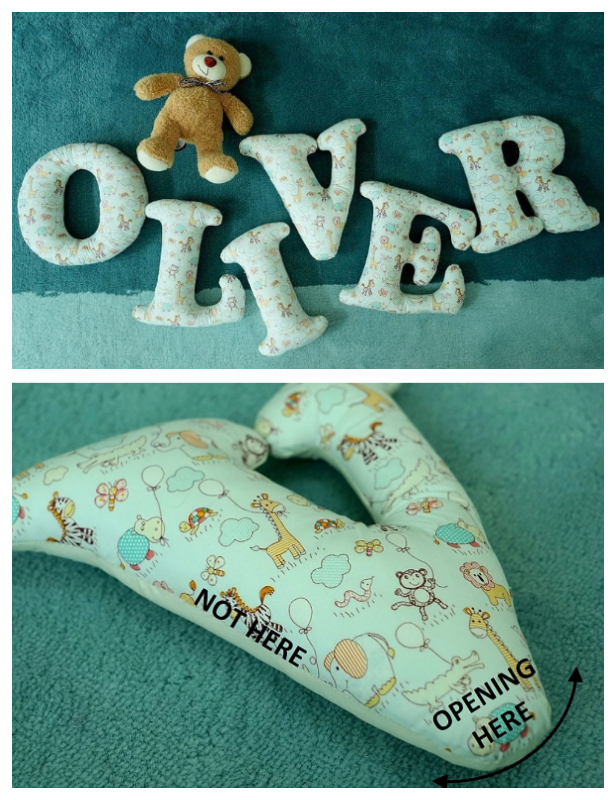 Easy Fabric Letters DIY Tutorials