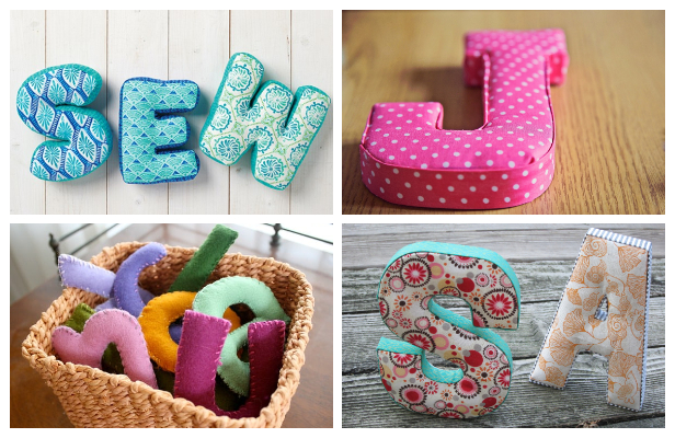 Easy Fabric Letters DIY Tutorial ft