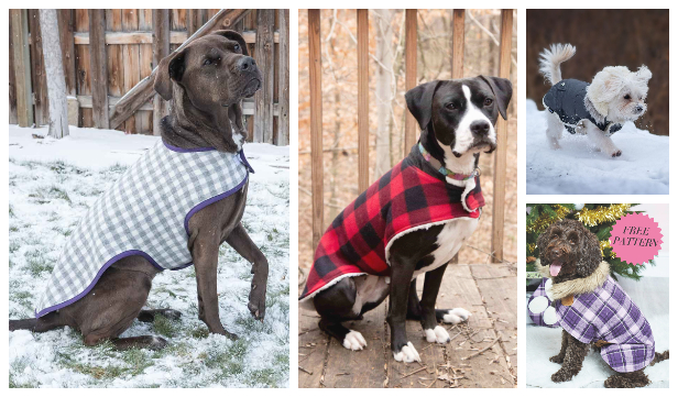 DIY Fabric Dog Coat Free Sewing Patterns