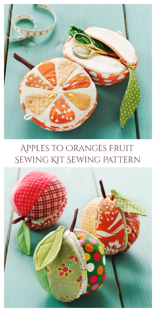 Apples to Oranges Fruit Sewing Kit Sewing Pattern
