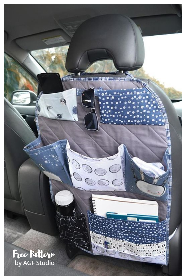 DIY Space Trip Fabric Car Organizer Free Sewing Patterns