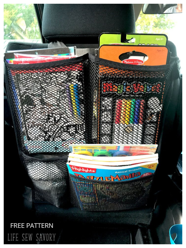 DIY Mesh Car Seat Organizer Free Sewing Patterns