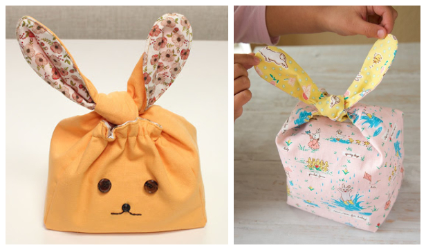 DIY Fabric Flappy Bunny Bag Free Sewing Patterns
