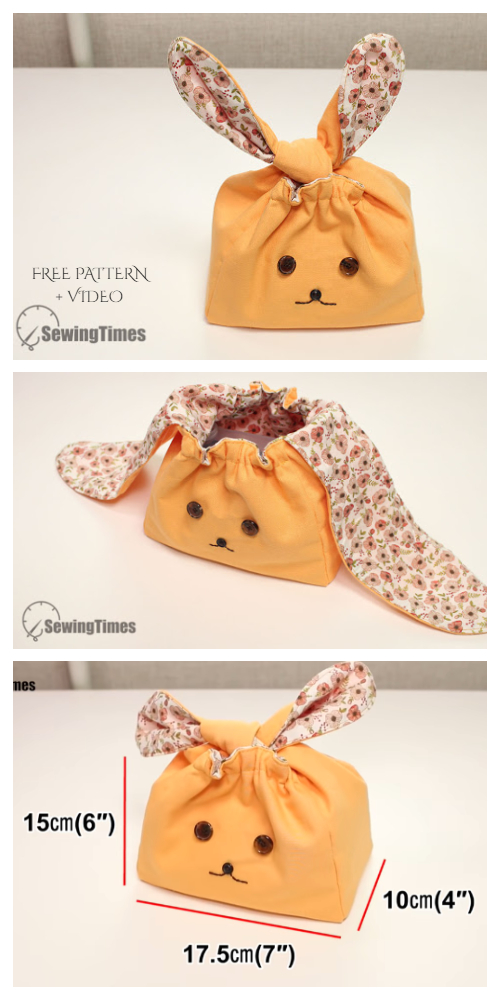 DIY Fabric Flappy Bunny Bag Free Sewing Pattern + Video