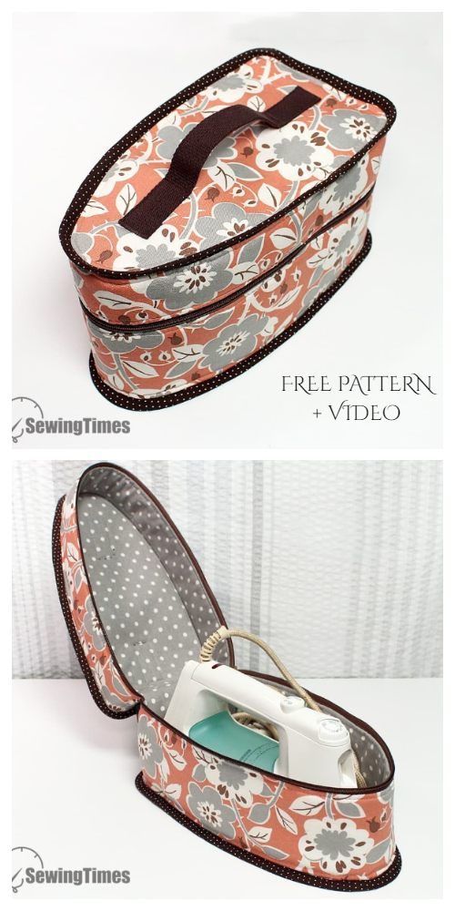 DIY Fabric Iron Storage Case Free Sewing Pattern + Video