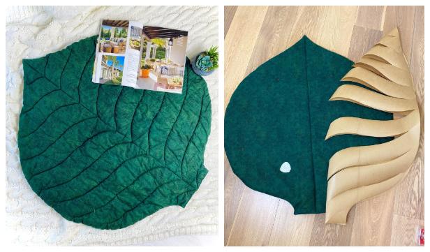 DIY Fabric Maxi Leaf Mat Free Sewing Pattern & Tutorial