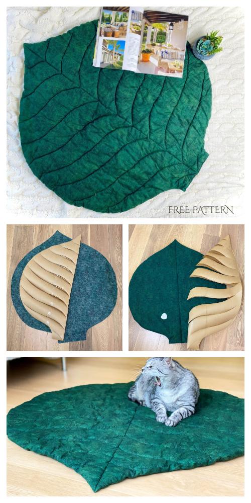 DIY Fabric Maxi Leaf Mat Free Sewing Pattern