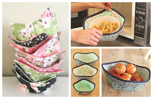 DIY Microwave Bowl Cozy Free Sewing Pattern and Tutorial