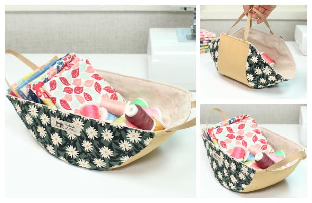 DIY Fabric Swing Storage Basket Free Sewing Pattern + Video