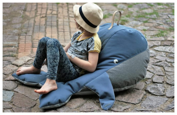 DIY Fabric Whale Beanbag Free Sewing Pattern