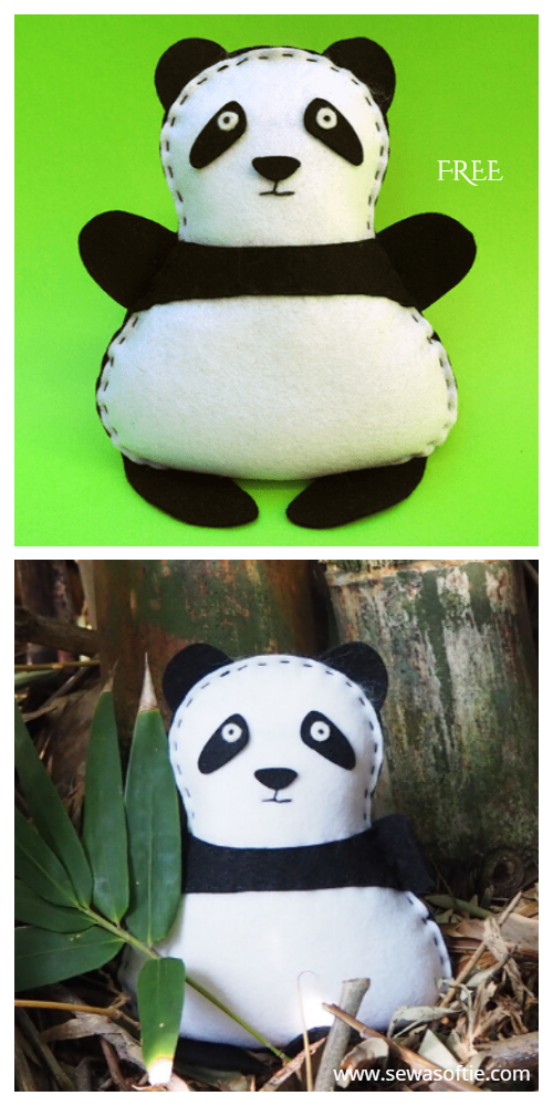 DIY Felt Panda Mobile Free Sewing Pattern f2