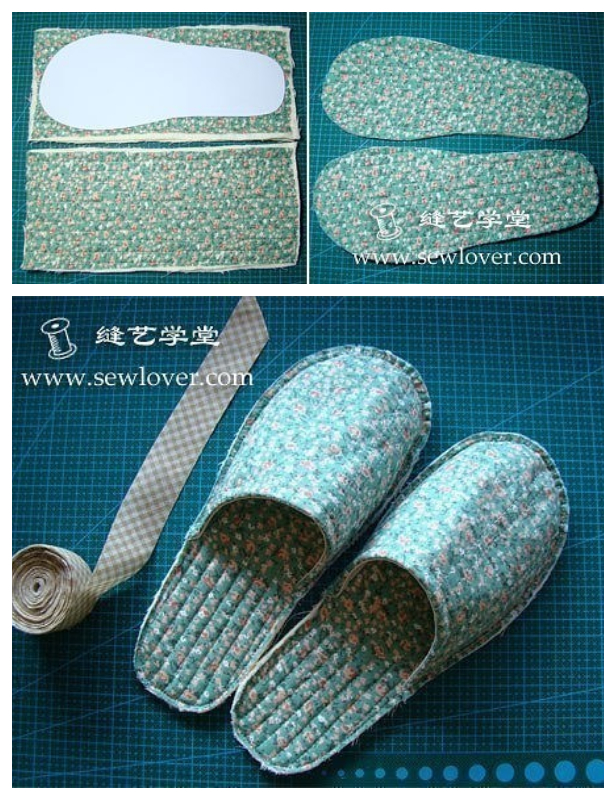 DIY Quilt House Slippers Free Sewing Pattern + Tutorial