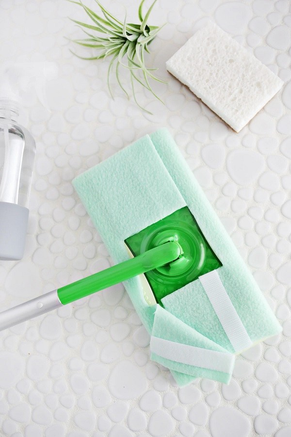 DIY Reusable Swiffer Cover No Sew Free Pattern
